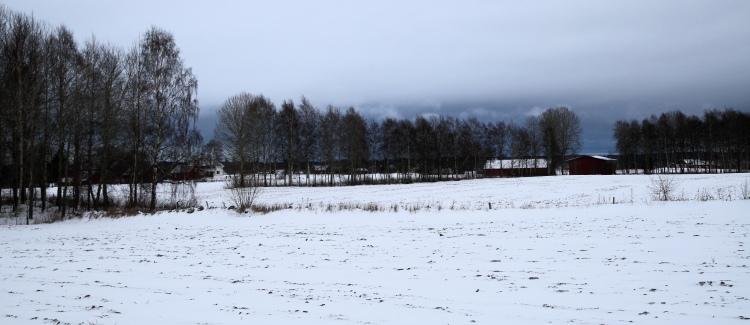 Blå snömoln