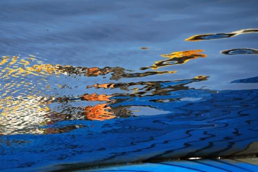 Färgat vatten